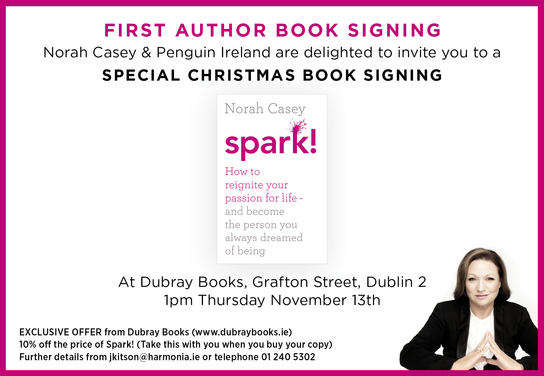 Norah Casey – Book Signing